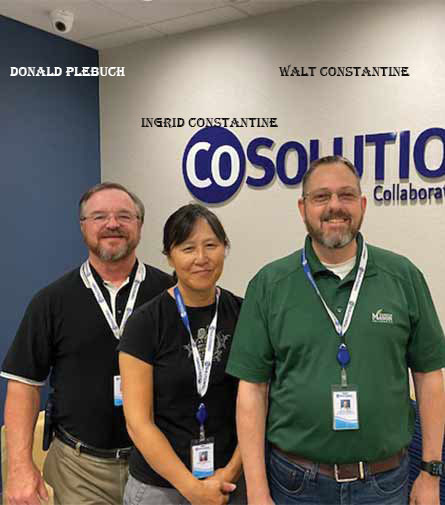 Ingrid Constantine, CEO & Walt Constantine, President & Donald Plebuch, SVP, CoSolutions, Inc.