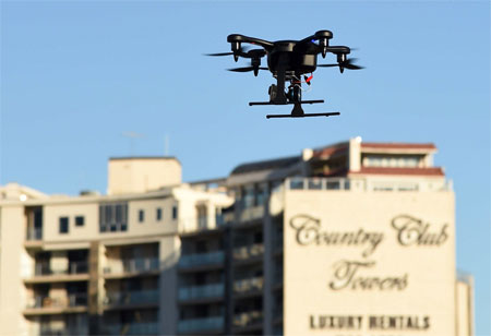 Covering an Extra Mile with Drones
