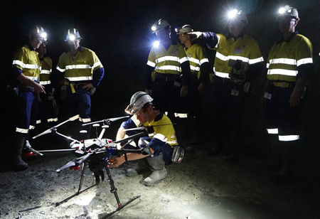Amazing Use of Drones in Underground Mines