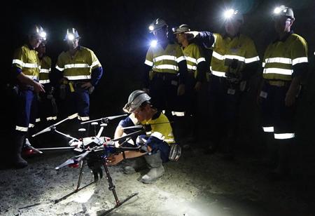 Amazing Use of Drones in Underground Mines