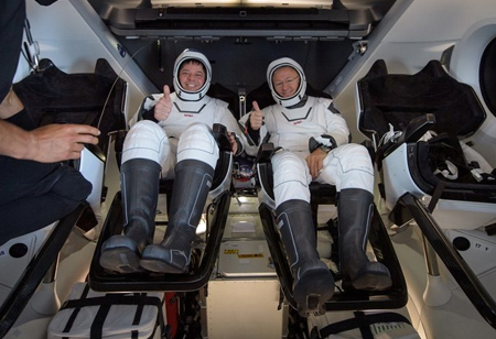 Returning Astronauts Impressed by Performance of Crew Dragon Spacecraft